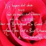 anne-marie jung, burt rutteman, rode roos van de liefde bij buitengoed de gaard