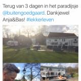 barry atsma compliment over zijn derde verblijf bij buitengoed de gaard mammaloewagen zeer luxe pipowagen vakantiehuisje midden-limburg