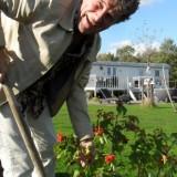 gé reinders plant viburnum bij mammaloewagen buitengoed de gaard