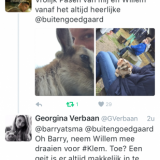 tweet van barry atsma pasen 2016  bij buitengoed de gaard pipowagens en vierseizoenenhuisje