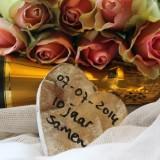 10 jaar samen 'ik hou van jou' bij buitengoed de gaard